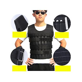 Allthemen Herren Sport Professionelle Krafttraining Gewicht Weste Atmungsaktives Textilgewebe und Stahlplatte