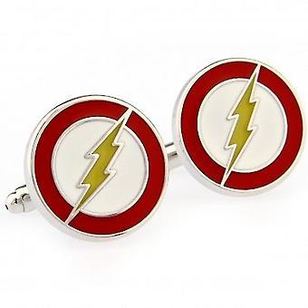 Cufflinks Flash Men Cuffbos de camisas