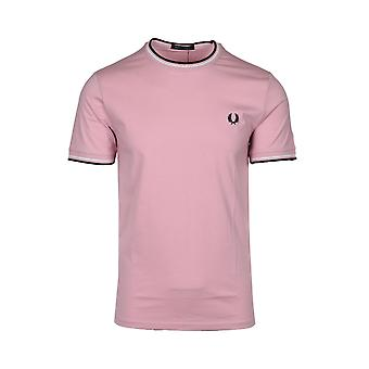 Fred Perry Twin Tippad T-shirt Chalky Pink