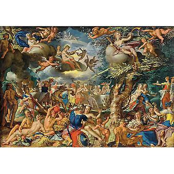 Wallpaper Art Mural A banquet of the Gods by Joachim Wtewael