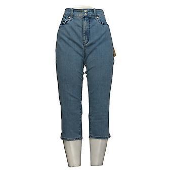 NYDJ Women's Petite Jeans Cool Embrace Skinny Crop w / Slits Blue A377692