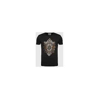 Versace Jeans Couture Printed Round Logo Black/gold T-shirt
