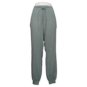 Modern Soul Women's Plus Pants Modern Knit Joggers Green 689729