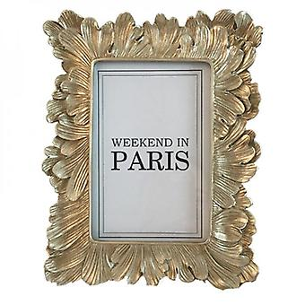 Vintage Leaf Feather Photo Frame Picture Display Golden Picture Stand Room Party Accessories