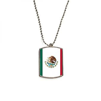 Mexico National Flag Stainless Steel Pet Tag Pendant