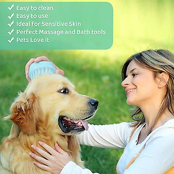 Pet Supplies Pet Cleaning Comb With Cleaning Knob, Hair Cleaning, Bath Massage (2 Pieces)