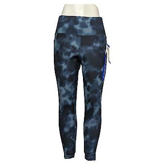 Danskin Leggings Ladies' Super Soft 7/8 Legging Pocket Blue