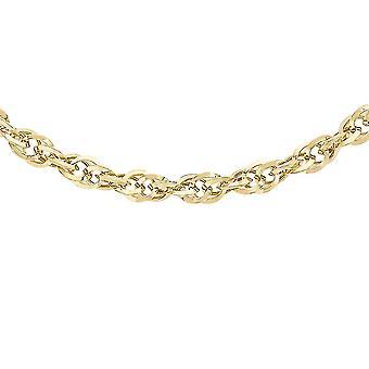 9K Gelbgold Prince Of Wales Kettenkette für Damen 18 '' in glänzendem Finish
