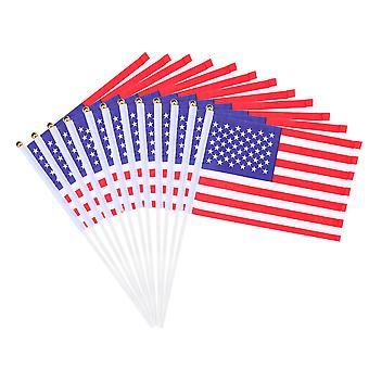 12pcs Usa Drapeaux de la main américaine