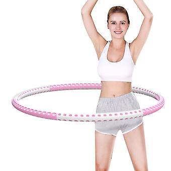 Утяжеленные фитнес-хула-хупы, 6 секций Съемный регулируемый круг для похудения Губка Хула Хуп