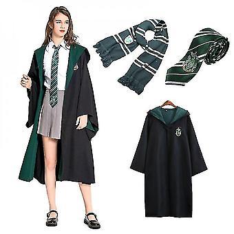 Wizard Harry Potter Fancy Dress Cloak Kostuum Cosplay 3 Pc Set