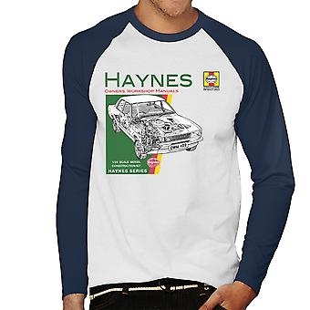Haynes Owners Workshop Manual 0409 Ford Cortina 1300 Men's Baseball Long Sleeved T-Shirt