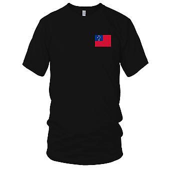 Drapeau National du pays de Samoa - brodé Logo - T-Shirt 100 % coton T-Shirt Mens