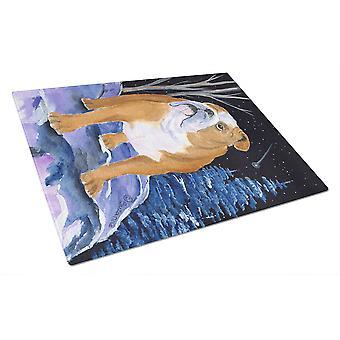 Carolines Treasures  SS8405LCB Starry Night English Bulldog Glass Cutting Board