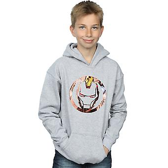 Marvel Boys Iron Man Montage Symbol Hoodie