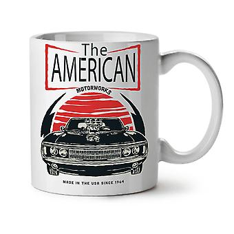 American Car Old Vintage NEW White Tea Coffee Ceramic Mug 11 oz | Wellcoda