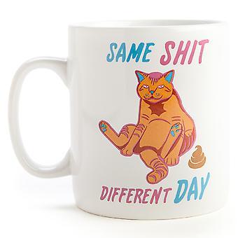 Dezelfde Sh #t andere dag kat reus koffiemok