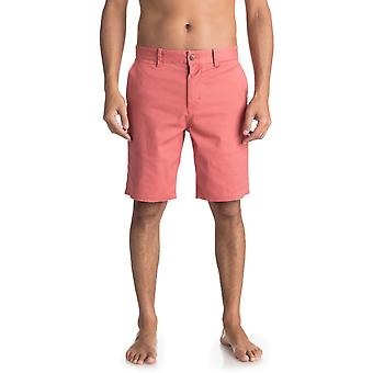 Quiksilver Krandy Chino Shorts in Mineral Red