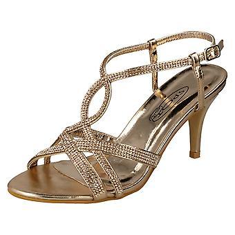 Miejscu panie na Diamante sandały F10838 - różowe złoto syntetyczne - UK rozmiar 3 - UE rozmiar 36 - rozmiar US 5