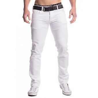 Mens Jeans Denim white summer pants slim fit 100% cotton 5-pocket style W29-W44