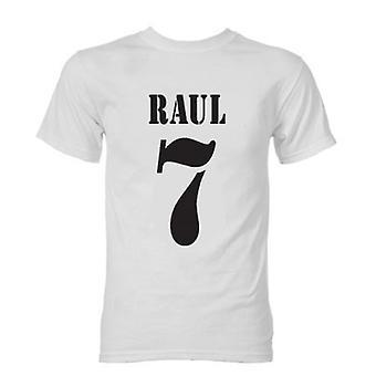 Raul Real Madrid Rétro T-shirt style (Blanc)