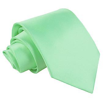 Mint grøn almindelig Satin ekstra lange slips