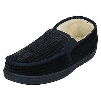 Mens Spot su tassello elastico pantofole W15185