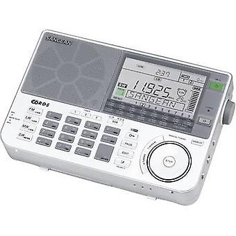 Sangean ATS-909 X Ricevitore Shortwave SW, AM, LF, caricabatterie FM AUX Argento