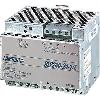 TDK-Lambda DLP-240-24-1/E rotaie PSU (DIN) 24 Vdc 10 A 240 W 1 x