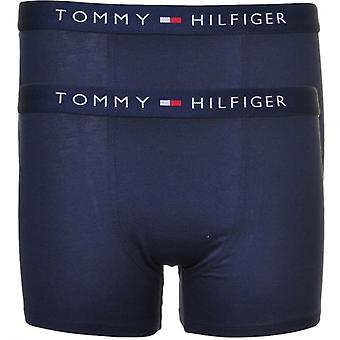 Tommy Hilfiger Boys 2 Pack icona Boxer tronco, Navy, X-Large