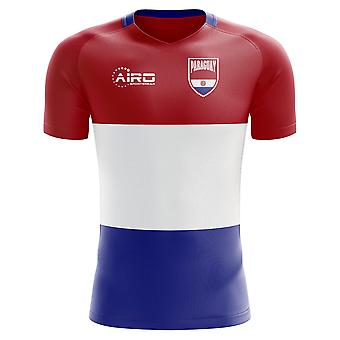 2020-2021 Paraguay Home Concept Voetbalshirt