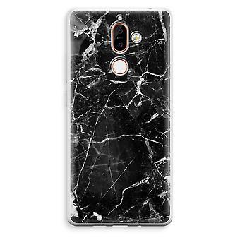 Nokia 7 Plus boîtier Transparent (doux) - marbre noir 2