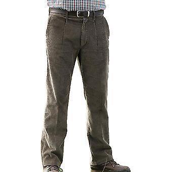 Champion Truro Mens Classic Single Pleat Front Corduroy Trouser 46W-31L Fawn