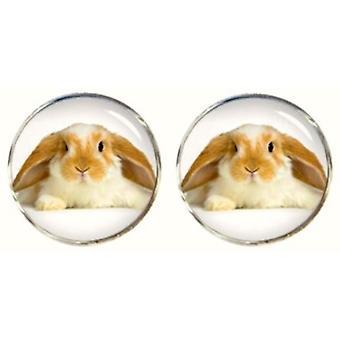 Bassin en bruin konijn Manchetknopen - Beige/wit