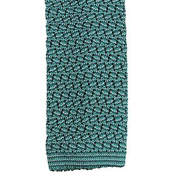 Corbata de seda KJ Beckett Suzy Chevron - verde esmeralda/verde/blando