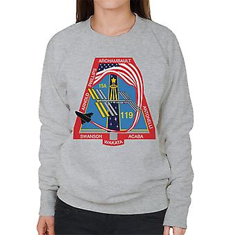NASA STS 119 Space Shuttle Discovery misión parche sudadera mujer