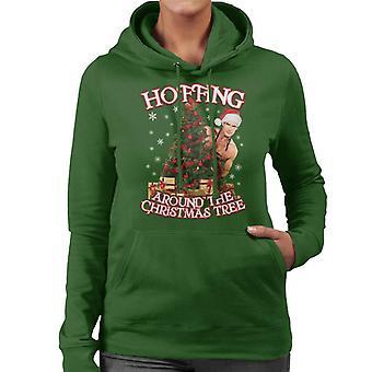 David Hasselhoff Hoffing noin joulukuusi naisia hupullinen pusero