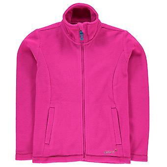 Gelert Kids Girls Ottawa Fleece Jacket Long Sleeve Soft Feel Fleece Zip Neck