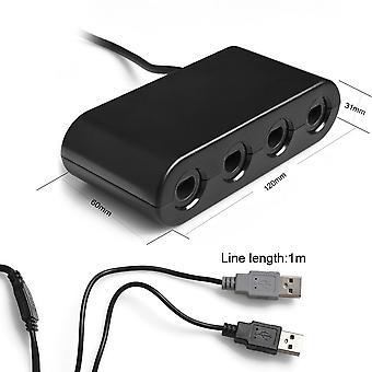 Kabalo GameCube GC / WaveBird naar Wii U & PC USB Controller Adapter omvormer, Black