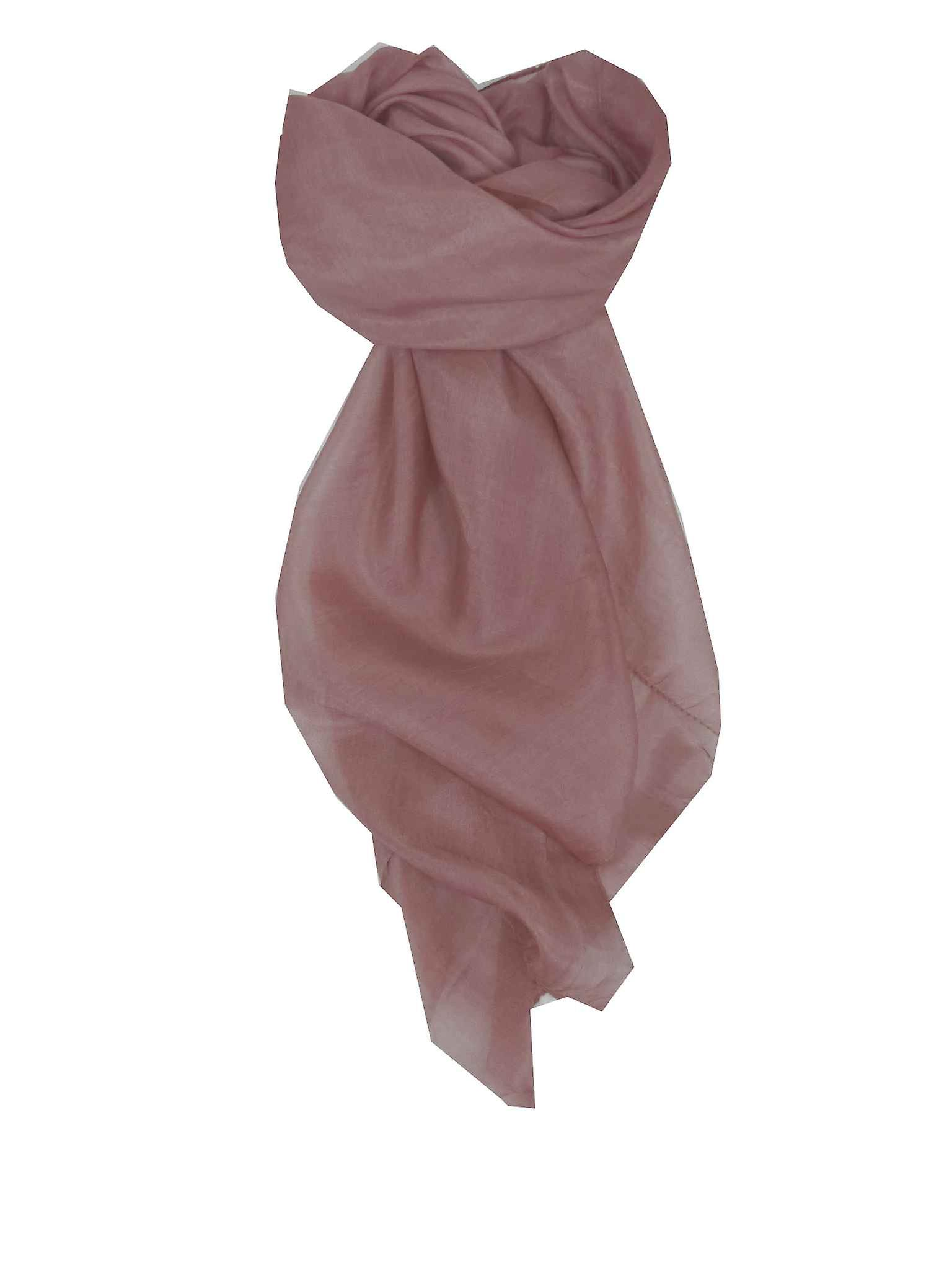 Mulberry Silk Hand Dyed Square Scarf Pearl from Pashmina & Silk