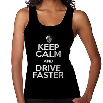 Ayrton Senna Keep Calm And Drive Faster Women's Vest