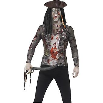 Зомби пират футболку, большой
