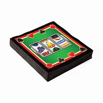 "Casino Napkins 10"" (16pcs)"