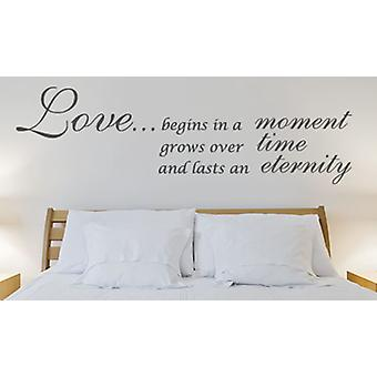 Love Begins in a Moment Wall sticker