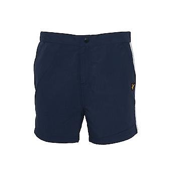 Lyle & Scott  Navy Side Stripe Swim Shorts