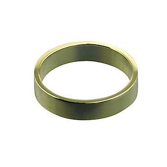 9kt guld 4mm almindelig flat Wedding Ring størrelse Pedersen