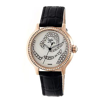 Sophie & Freda Monaco MOP Suisse Ladies Watch - Rose Gold/Black