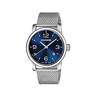 Wenger Mens Quartz analog watch with stainless steel band 01.1041.125