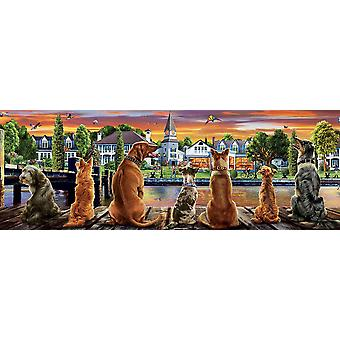 Educa Dogs On The Quay Panorama Jigsaw Puzzle (1000 Pieces)
