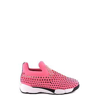 Pinko Ezbc056086 Kvinder's Fuchsia Nylon Sneakers